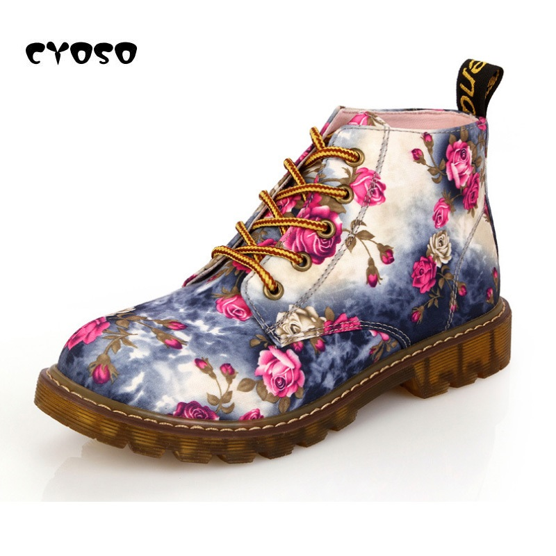 CYOSO Fashion Retro Women Boots Shoes Women's
