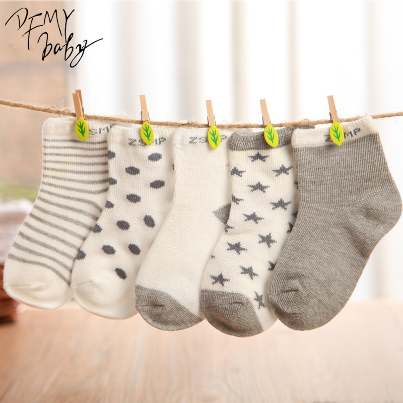 10 pieces/lot=5pair Cotton Baby Socks Newborn Floor Socks Girl and Boy Short Socks ...