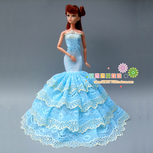 new arrvial collection Luxury blue fishtail evening dress for barbie doll for Fashion royalty FR doll