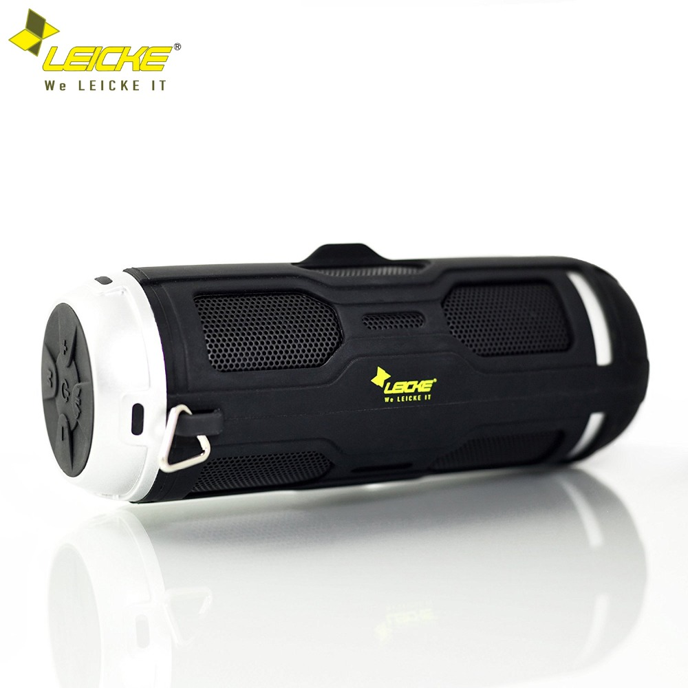 Leicke Bass Bluetooth Speaker Portable Wireless Stereo Outdoor Waterproof Column Built in Mic FM Radio Handsfree Call