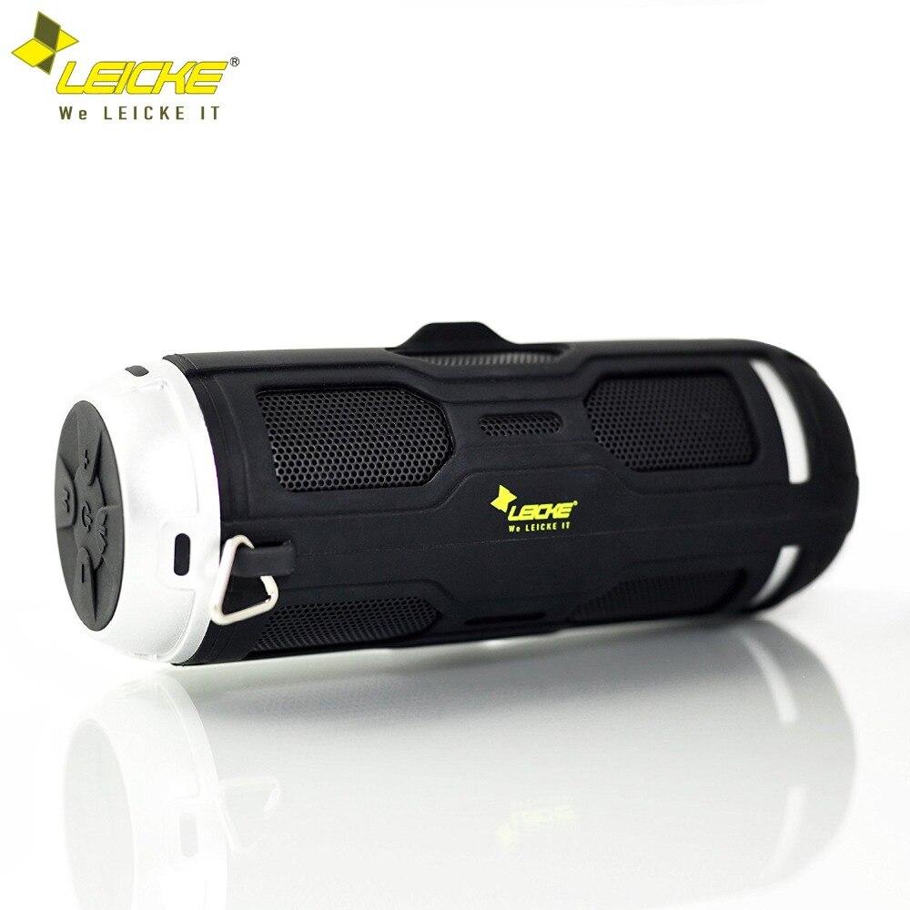 Leicke Basse Bluetooth Haut-Parleur Portable Sans Fil Stéréo Extérieure Imperméable Colonne Micro Intégré FM Radio Mains Libres Appel