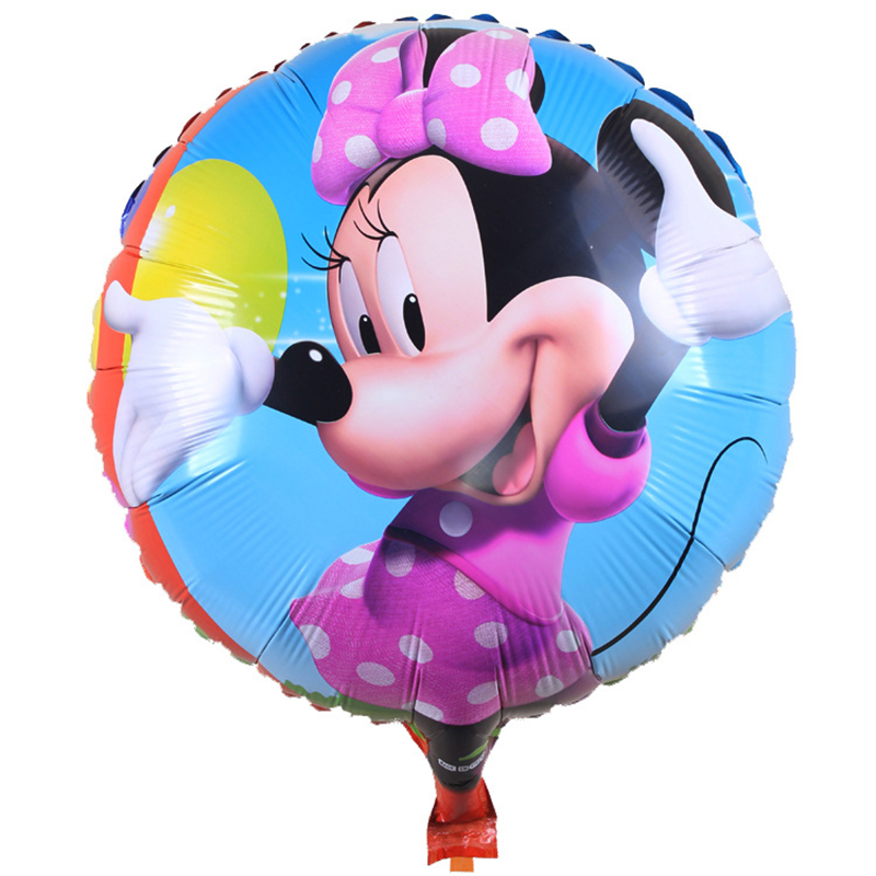 5psc/ new childrens toy round aluminum balloons Minnie Happy birthday party balloons balloon wholesale