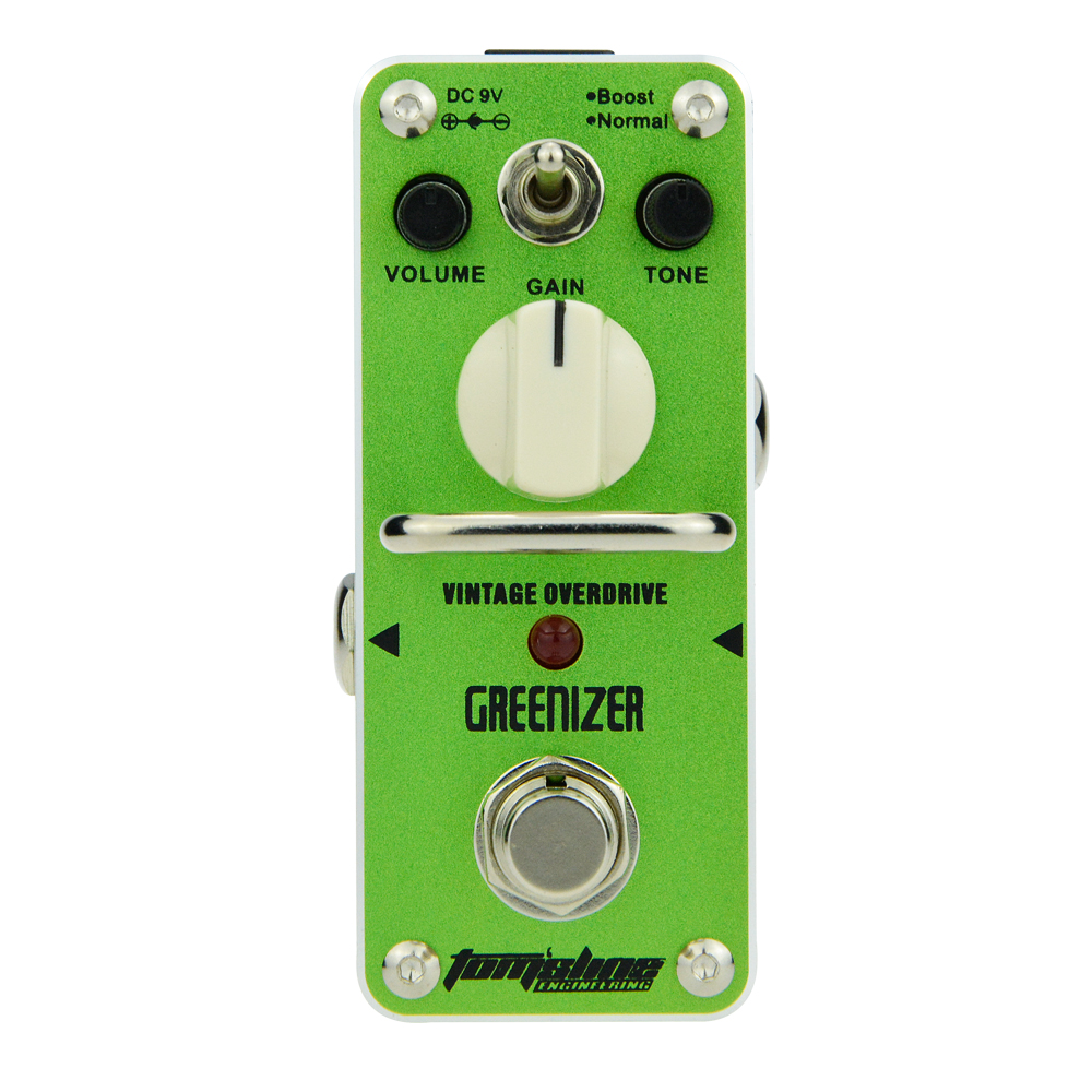 Aroma Greenizer Vintage Overdrive Guitar Effect Pedal AGR-3 Gain Control Volume Control Tone Control True Bypass aroma dumbler dumble amp simulator guitar effect pedal adr 3 sound overdrive mini analogue volume control gain tone control