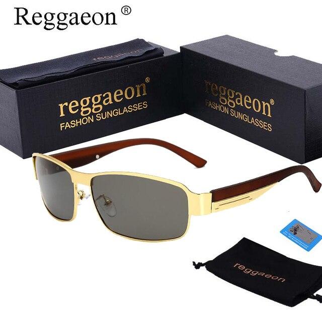 f6cd0449fa809 Reggaeon lunettes De soleil hommes polarisés 2018 Mercedes marque De luxe  Designer lunettes De soleil pour