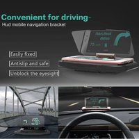 Car HUD Head Up Display GPS Navigation Projection Phone Holder Bracket Universal