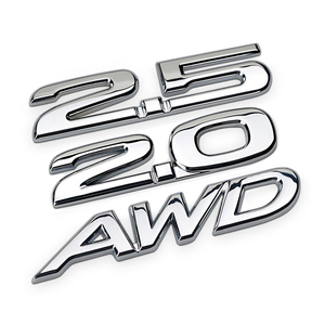 3D Metal 2.5 2.0 AWD Logo Car Sticker Auto Badge Emblem Decal For Mazda 2 3 5 6 MPV CX-5 CX-7 CX-9 Atenza Axela RX7 RX8 626 MX5