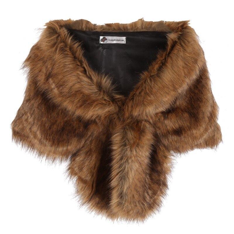 New Women Faux Fox Fur Coats Jackets Bridal Wedding Faux Fur Shawl Wrap Shrug Scarf New arrival худи xxxtentacion