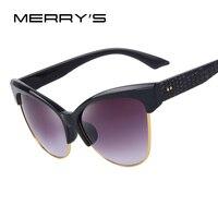 MERRY S Women Cat Eye Sunglasses Brand Designer Sunglasses Vintage Glasses S 8011