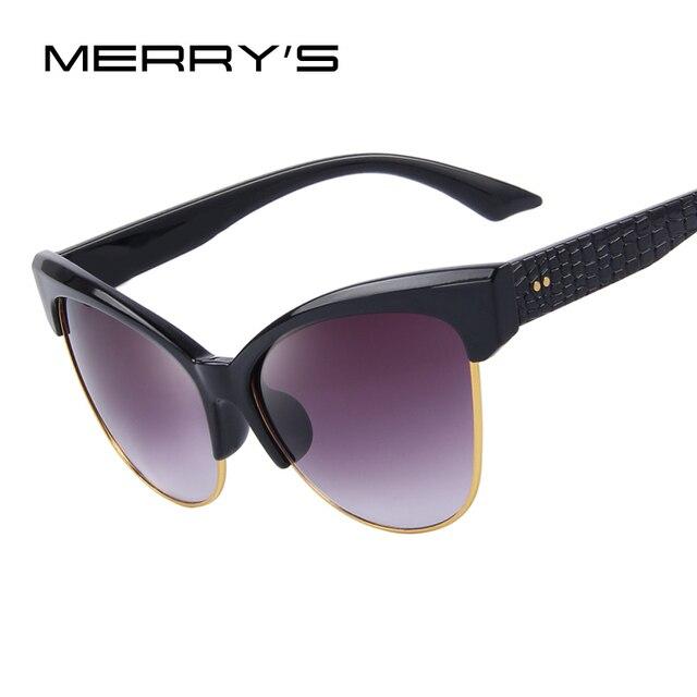 MERRY'S Women Cat Eye Sunglasses Brand Designer Sunglasses Vintage Glasses S'8011