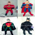 Christmas Gift For Kids  Justice League Superman Robin Doll.40cm Big Size Gift For Kids 5pcs/set