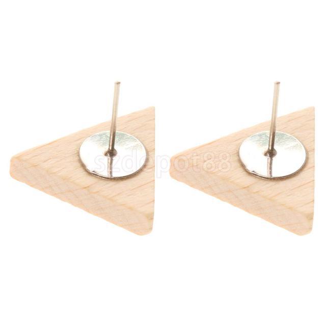 Triangle Wood Stud Earrings