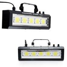 DMX/Sound Control 100 Вт Белое освещение LED Строб Решетка Лампы Disco Party DJ Главная Музыка Шоу Проектор Этап освещение