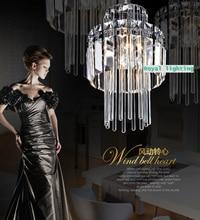 Envío gratis 1 luz de la cocina cristal comedor lámpara de cristal de lujo luz pendiente modern Restaurant Bar iluminación cristalina