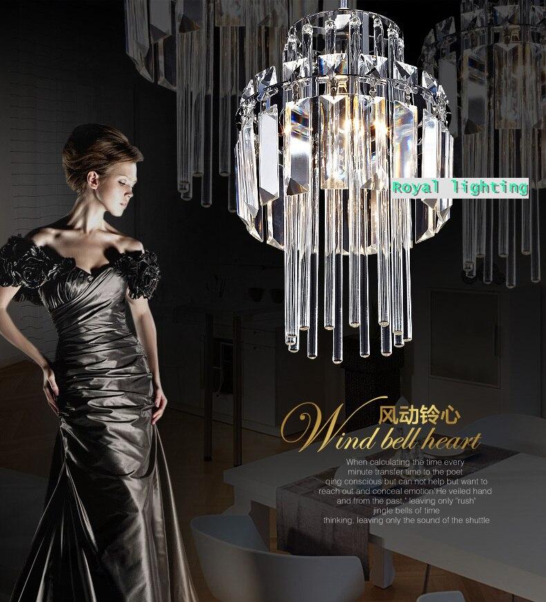 Sunroom Kitchen Crystal Lamp Suspension Light Dining Room Luxury Pendant Modern Restaurant Bar Lighting In Lights From