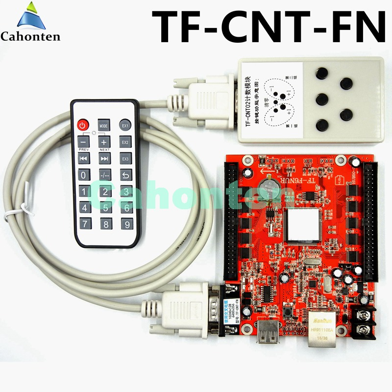 TF-CNT-FN Counting game display dedicated LED control card for sports scores, count screen board led controller system seventh generation nat paper towels 120 cnt 120 count