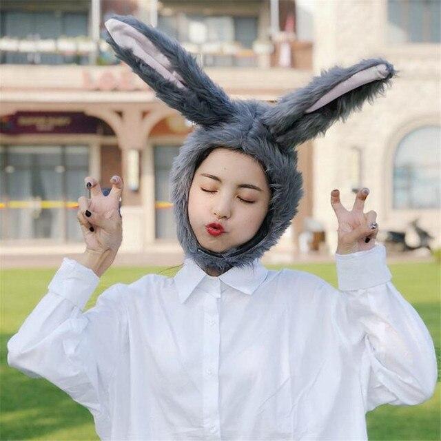 Шапка серый кролик 2