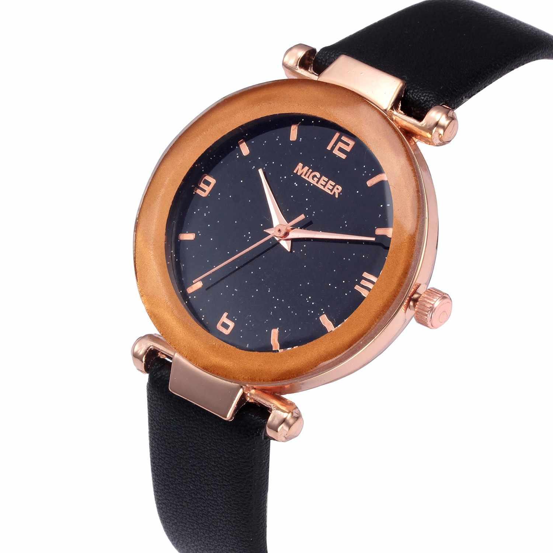 Montre de luxe femmes robe Bracelet montre de mode 2019 Quartz dames convexe verre montres en cuir de haute qualité horloge montre-Bracelet