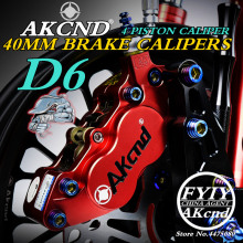AKCND Universal CNC Motorcycle 40mm Brake Calipers FOR YAMAHA msx125 BWS SMAX Honda PCX dio NMAX Moto Racing Dirt Bike Scooter