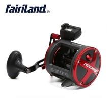 цена на Fairiland 4BB Drum Trolling Reel with Digital Counter right Left hand 16Kg /35 lb Drag Power Boat Fishing Reel Saltwater reels