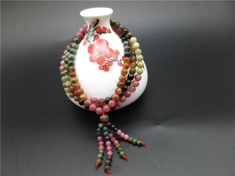 Bracelet en cristal de tourmaline coloré naturel Bracelet en pierre naturelle femmes en gros 10mm livraison directe cadeau de noël