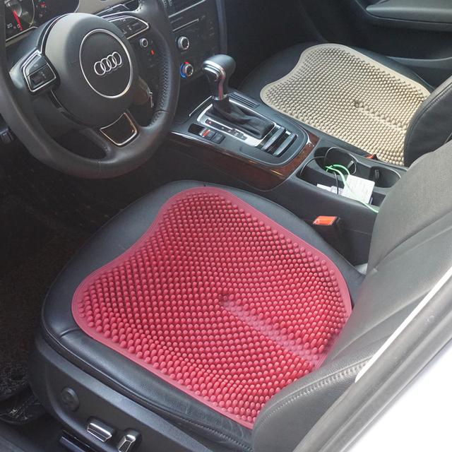 Memória Malha Respirável de Sílica Gel de Silicone Almofadas Do Assento de Carro Universal Auto Tampas de Assento Interior Acessórios Estilo Do Carro Vermelho