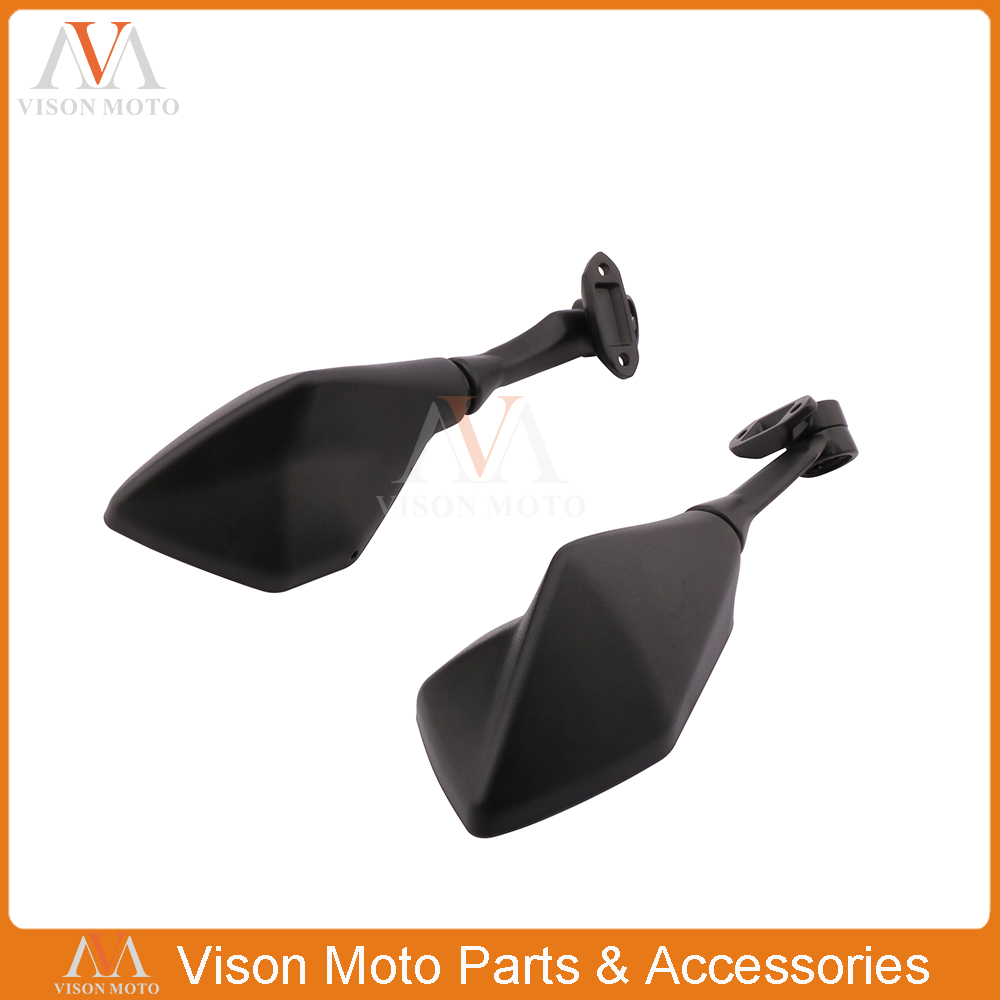 Motorcycle Pair of Plastic Side Mirror Rearview Rear View Mirrors For Kawasaki Ninja300 Ninja 300 2013 2014 2015 2016 13 16 in Side Mirrors Accessories from Automobiles Motorcycles