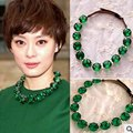 Paris Fashion High Quality New Fine Natural green Jade Necklace Fashion Beaded Jewelry Ornaments For Women  Birthday Present gif