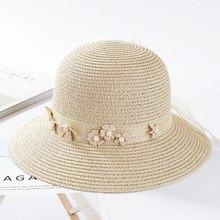 HT1667 nuevas mujeres sol sombreros Corea cinta flor sombrero de ala ancha  playa señoras sólido sombrero flojo del verano Mujer . c5ab589be45