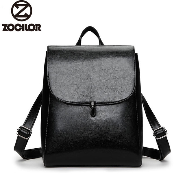 3b4fc75d7532 Fashion Women Backpack High Quality Youth Leather Backpacks for Teenage  Girls Female School Shoulder Bag Lock Bagpack mochila