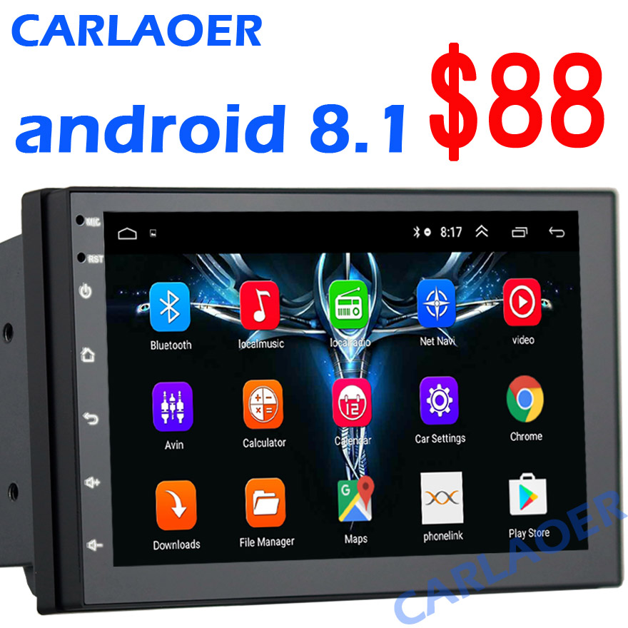Carlaoer Android 8.1 2 Din Car radio Multimedia Video Player Universal auto GPS