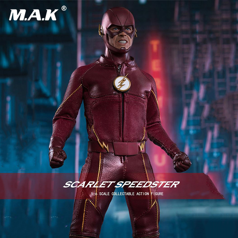 Full set figure collection 1/6 Scale the flash SCARLET SPEEDSTER Grant Gustin 12 Action Figure gift for collector zh005 1 6 scale knights of malta ancient medieval action figure soldier type 12 figure body for collection gift