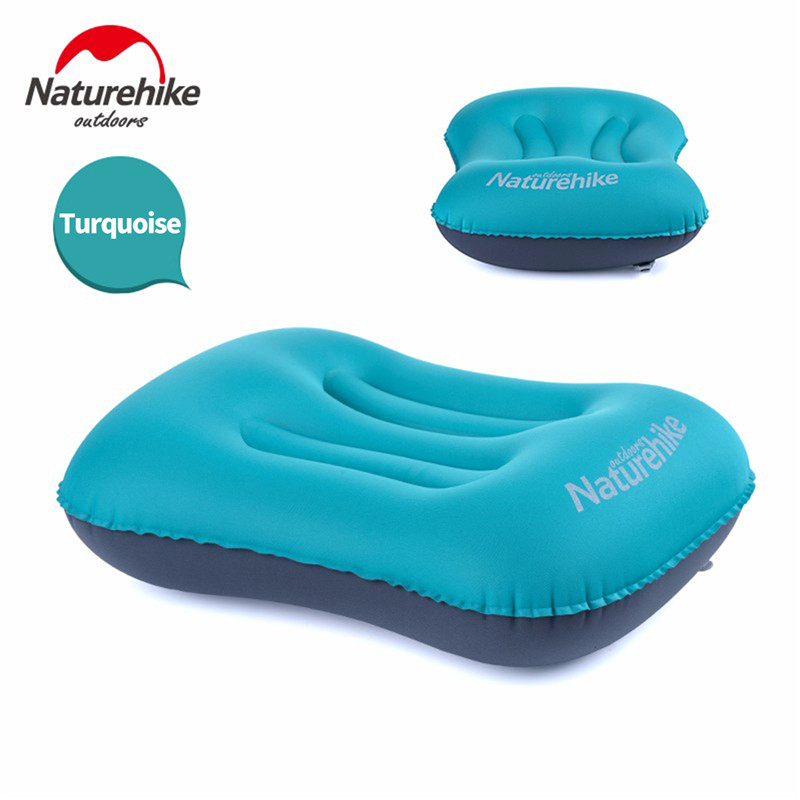 Image 5 - Naturehike Camping Mat Folding Inflatable Travel Air Pillow Neck Camping Sleeping Gear Fast Ultralight Portable TPU with Pocket-in Camping Mat from Sports & Entertainment