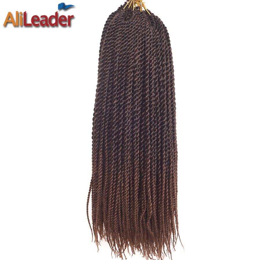 AliLeader 30 Brins Petit Twist Sénégalaise Cheveux Crotchet Tresses Ombre Argent Violet Synthétique Crochet Twist Cheveux 15 Couleurs 18