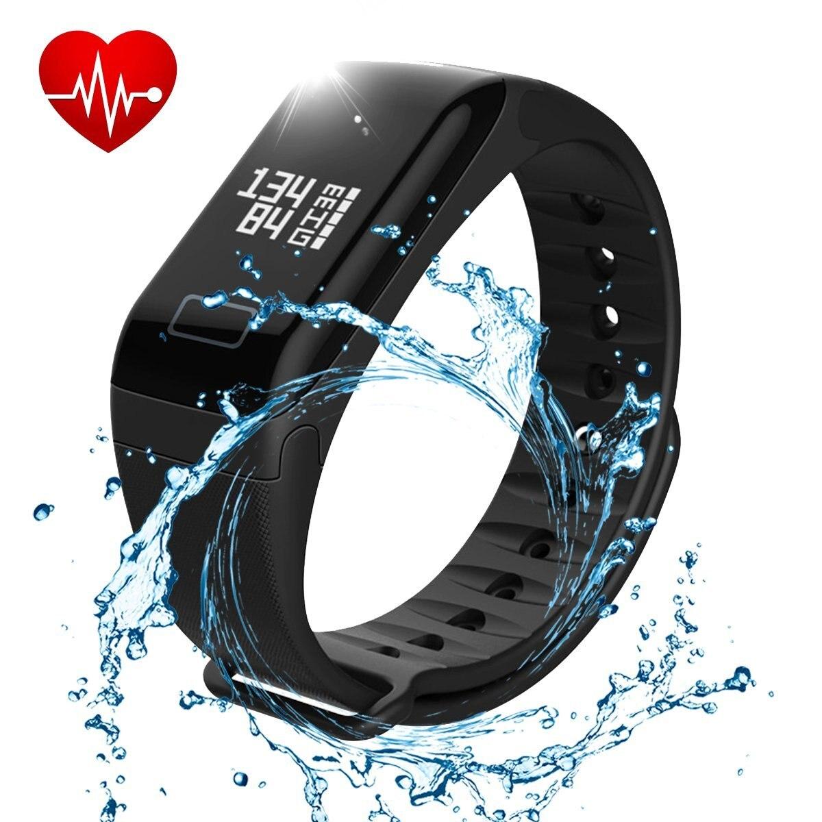 F1 Intelligent Montre Intelligente Bande À Puce Fitness Tracker Étanche Bracelet Coeur de La Pression Artérielle en Oxygène du Sang Moniteur de Fréquence