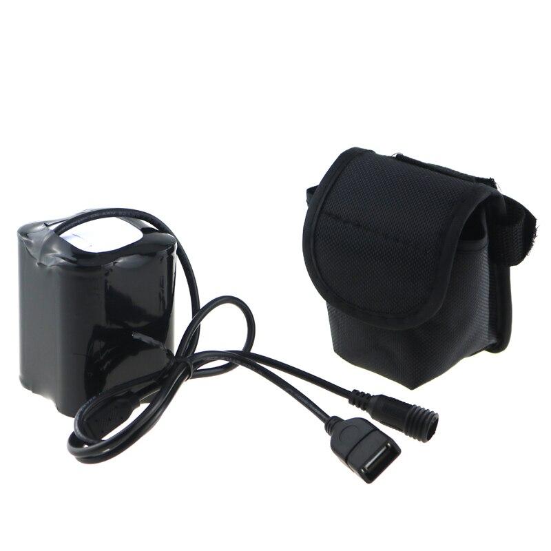 8.4 V 20000 mAh 26650 USB + DC Port Vélo Lumière Puissance 4x26650 batterie Pack Avec Vis Fil pour Solarstorm X2 X3 T6 ECT