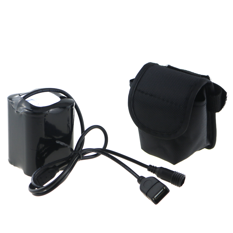 8.4V 20000mAh 26650 USB + DC Port Bicycle Light Power 4x26650 Battery Pack With Screw Thread for Solarstorm X2 X3 T6 ECT