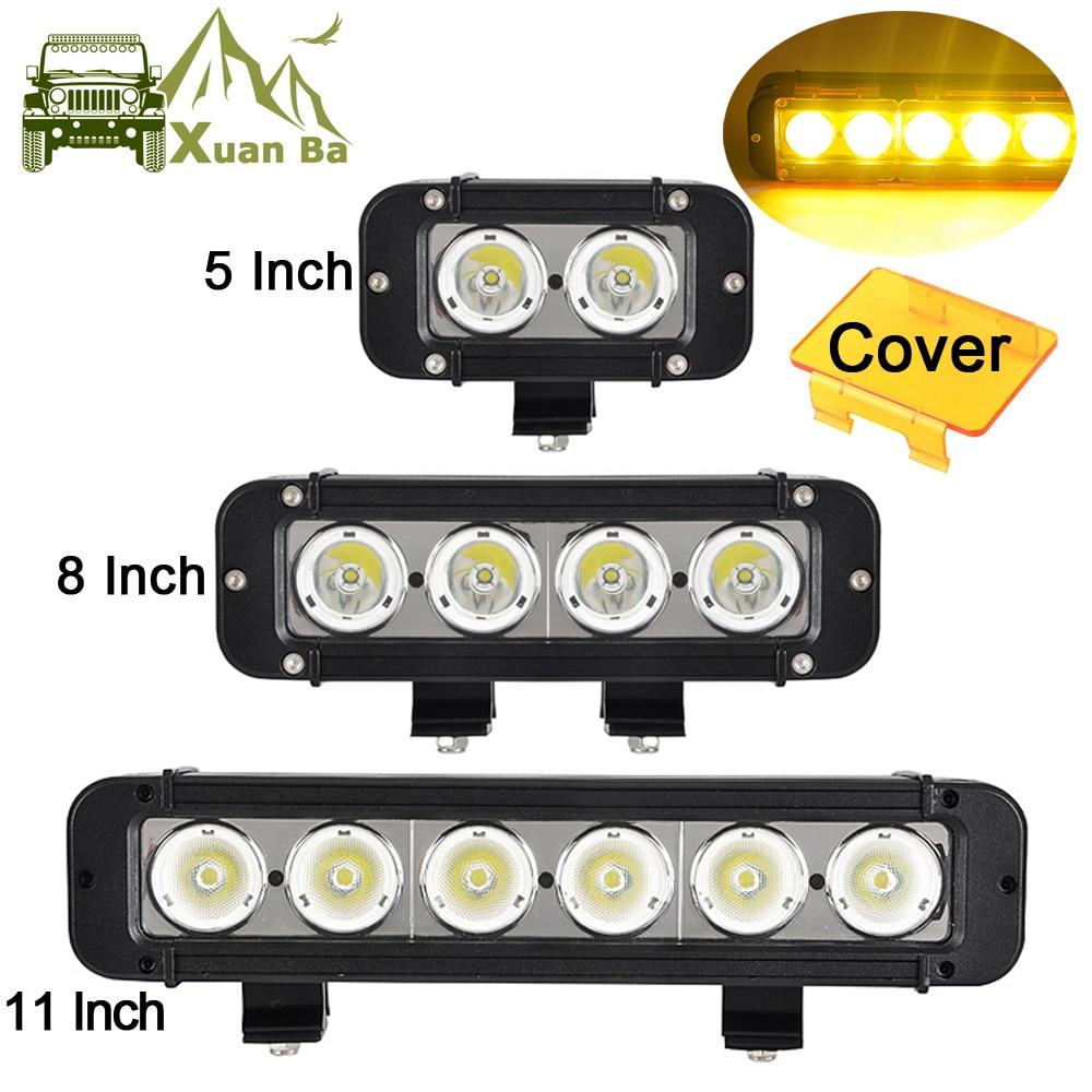 "4D 50inch 288W LED Light Bar Spot/&Flood Combo Offroad SUV Truck Ford RZR PK 52/"""