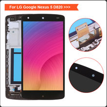 For LG Nexus 5 Screen D820 D821 LCD Display Touch Screen Digitizer with Bezel Frame Assembly Replacement For nexus 5 Display(China)