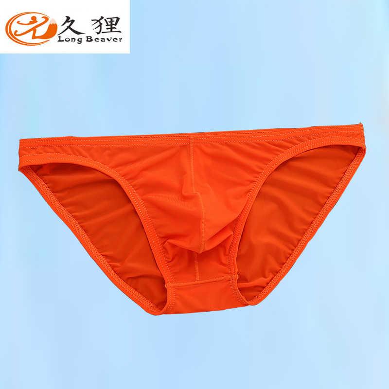Pria Segitiga Pakaian Dalam Seksi Transparan Celana Es Sutra Transparan Ultra-Tipis Seksi Pakaian Dalam