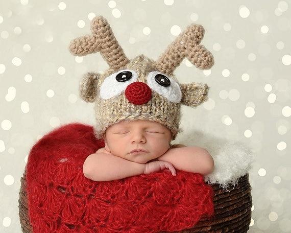 Bekleidung Zubehör Baby Handgemachte Gestrickte Häkeln Stricken Rentier Hut Geweih Foto Fotografie Prop Durch Xselector