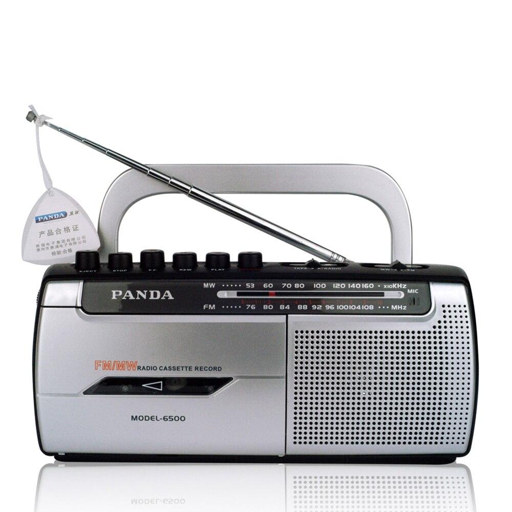 Panda 6500 Клейкие ленты Запись Регистраторы держатель изучение английского прост в эксплуатации fm Радио
