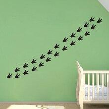 24 X Динозавр следов настенные наклейки для детей Детская спальня переводные наклейки для стен домашний декор