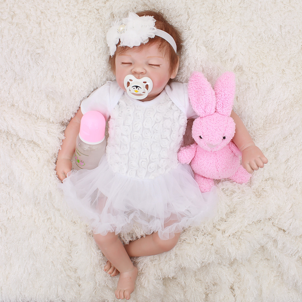 OtardDolls Baby Reborn Doll Latest New Silicone Boneca Adorable menina Lovely 50cm soft vinyl surprise christmas