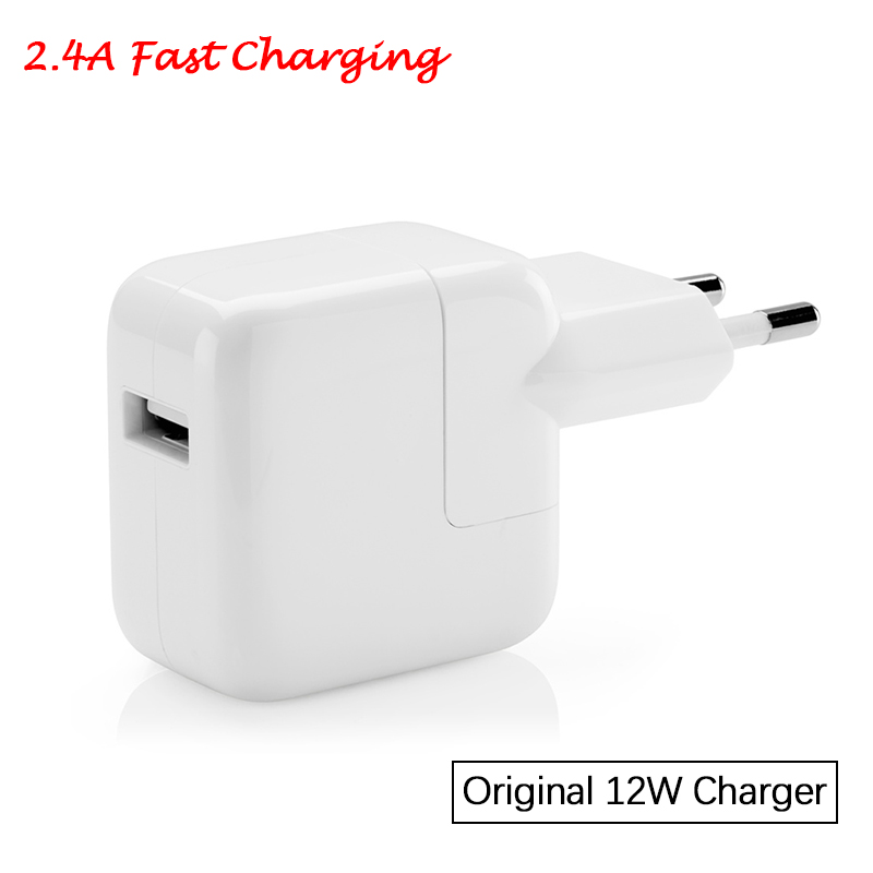 2.4A Fast Charging Original Euro iPad Charger Genuine 12W USB Power Adapter for iPad Pro Mini Air iPhone 6s 7 8 Plus XR XS Max