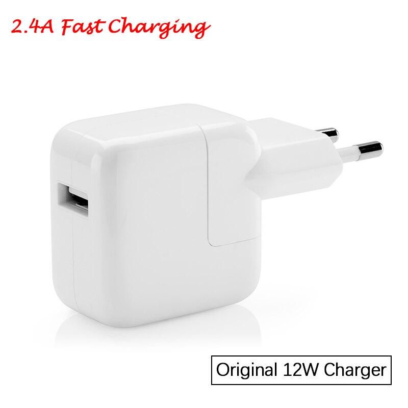 2.4A Schnelle Lade Original Euro iPad Ladegerät Echte 12 watt USB Power Adapter für iPad Pro Mini Air iPhone 6 6 s 7 8 Plus X für EU