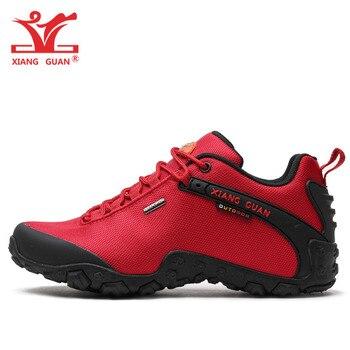 XIANG GUAN Woman Hiking Shoes Women Red Trekking Boots Outdoor Sports Climbing Mountain Camping Hunting Jogging Walking Sneakers