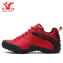 XIANG GUAN Woman Hiking Shoes Women Athletic Trekking Boots Red Waterproof Sports Climbing Trainers Outdoor Walking Sneakers