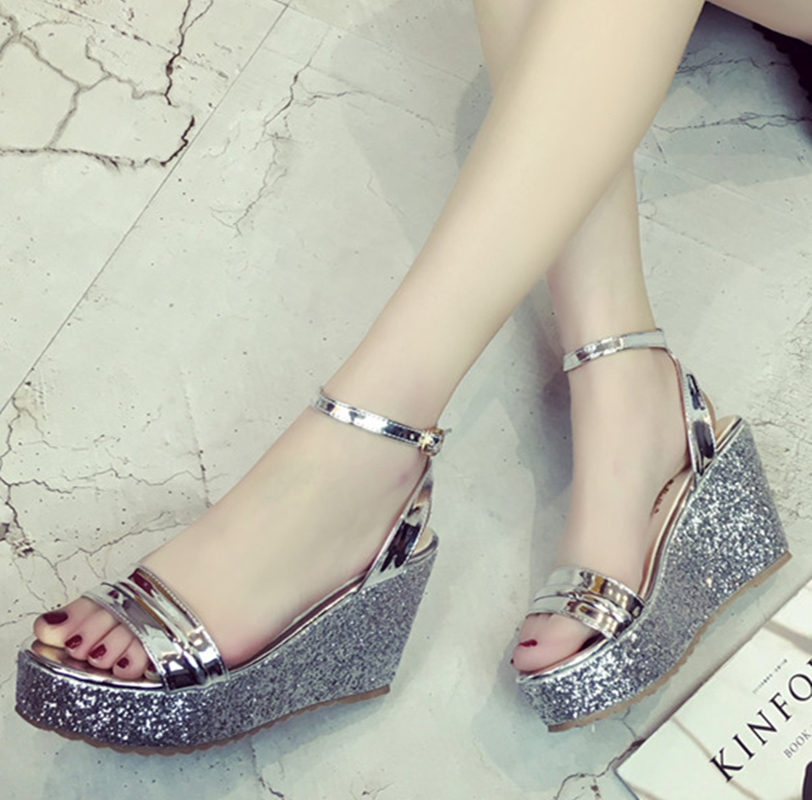 Women's Wedges Sandals Ankle Strap Platform High Heels Buckle Strap Woman Sandals Womans Summer Shoes Gladiator 2017 phyanic 2017 gladiator sandals gold silver shoes woman summer platform wedges glitters creepers casual women shoes phy3323