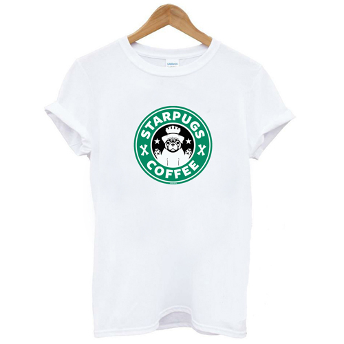 Star Pug Coffee TShir Hip...