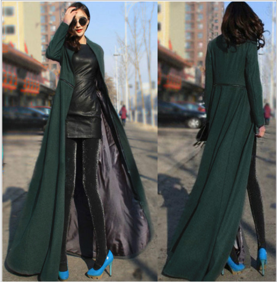 Plus Size S 2XL New Fashion Female Over Coat Women Long Winter Overcoat Zipper Separable Jacket